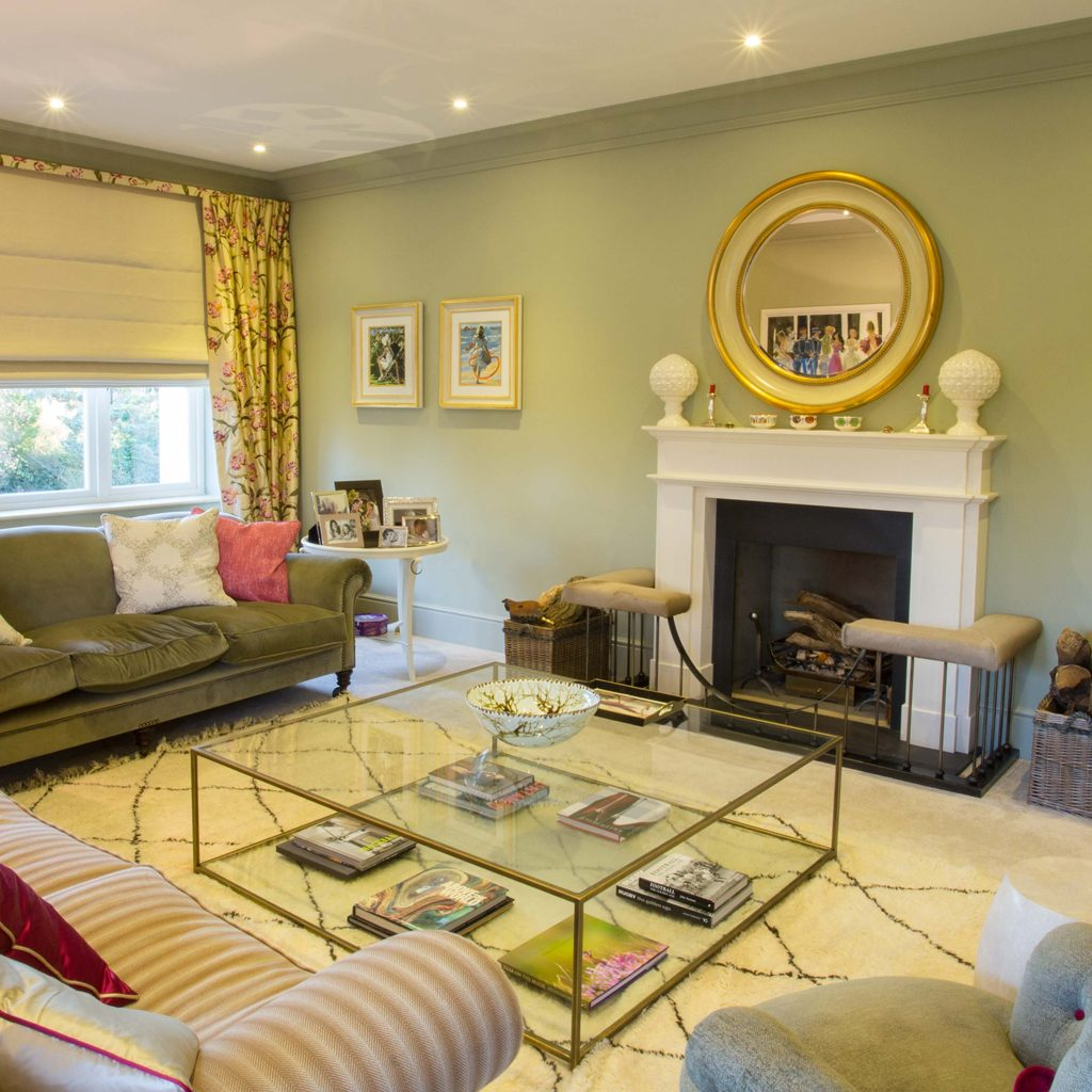 The Manor House Drawing Room With Farrow Ball Cooking Apple Green